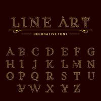 Classic Alphabet Letters vector