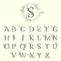 lettere di decorazione floreale alfabeto
