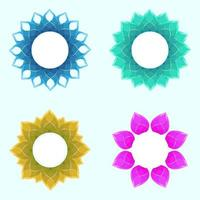 conjunto de marco de boda de lujo de cristal de flores