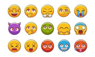 Colorful Emoji Set  vector