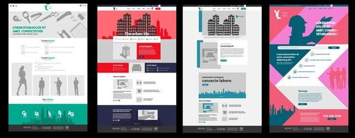 Website Landing Page Set vector