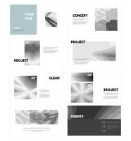 Graphic Design Presentation Set vector