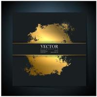 Gray Card with Golden Grunge Splatter vector