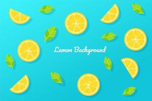 estilo de dibujos animados rodajas de limón en azul