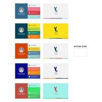 Color Block Business Card Set vector