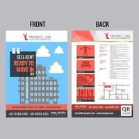 Modern Rental Flyer in Blue and Red Tones vector