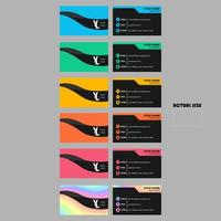Colorful Business Card Set with Black Curve