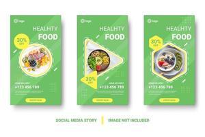 conjunto de banner de postagem de mídia social verde