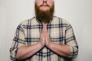 Bearded Male Praying photo