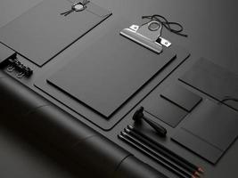 black elements on black background