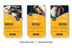 post de mídia social de comida vertical definido no estilo grunge