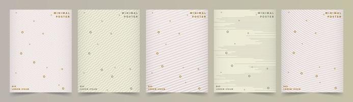 Cover Set with Line Patterns and Pastel Colors