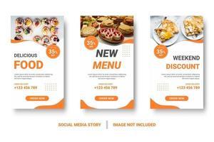 publication de médias sociaux sertie de formes ondulées orange