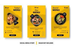 post de mídia social amarelo conjunto com pincelada