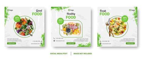post de mídia social quadrado conjunto com respingos verdes