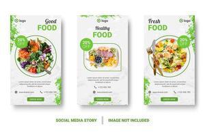 conjunto de post de mídia social de traçado de pincel verde