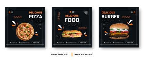 praça memphis estilo comida mídia social post conjunto