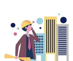 Construction worker professional vector
