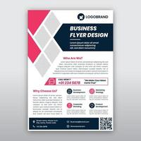 Modern Pink and Gray Business Flyer Template