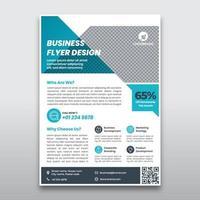 modelo de panfleto de negócios azul vetor