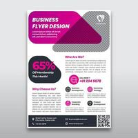 Purple Pink Business Flyer Template