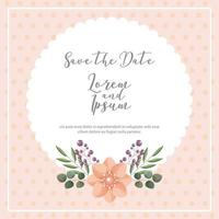 Dotted background save the date card