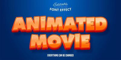Animated Movie Text Effect  vector