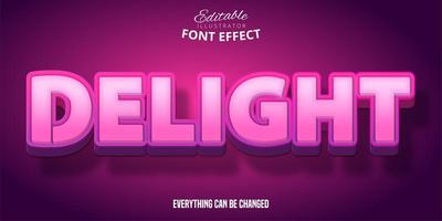 Delightful Pink Text Effect