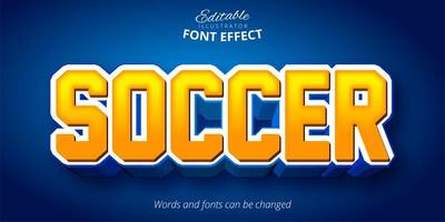 Soccer Sports Font Effect   vector