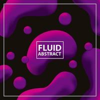 Neon fluid abstract background vector