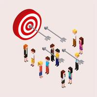 People characters target isometric vector
