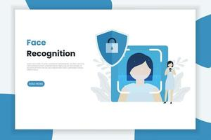 Facial Recognition Technology Landing Page
