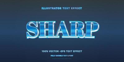 efeito de texto editável - estilo de texto metálico azul