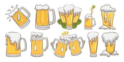 juego de vasos de cerveza