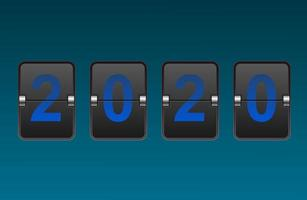 Digit Flip Clock 2020  vector