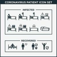 Coronavirus Patient Icon Set vector