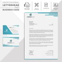 Blue Lines Corporate Letterhead and Business Card
