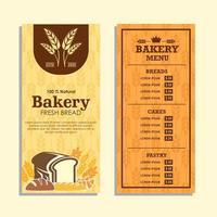 conjunto de menu vertical de pão fresco vetor