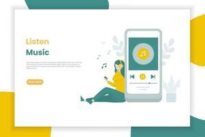 plantilla de página de aterrizaje de música en línea