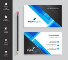 Blue and Black Transparent Angles Business Card