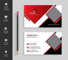 cartão de visita vermelho e branco do design do diamante