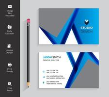 Blue Dynamic Angle Designs Business Card