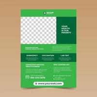 Green Simple Design Health Care Flyer
