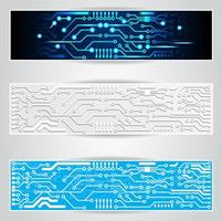 Electric Circuit Board Banner Set
