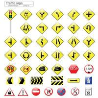 Glossy Traffic Sign Set