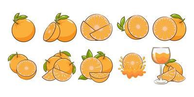 conjunto de elementos naranja