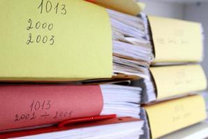 viejos registros de impuestos foto
