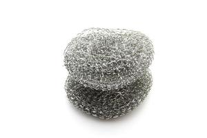 Steel Pot Sponge on white background