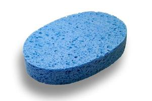 Toilette sponge with clipping path photo