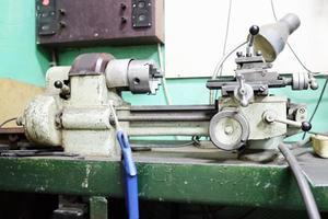 lathe machine in a workshop